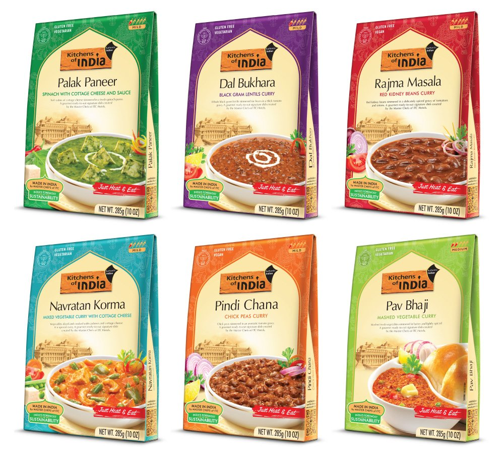 Kitchens Of India Heat U0026 Eat, Dinner Variety Pack, 10 Ounce Boxes (Pack