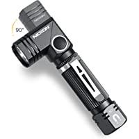 Flashlight, NICRON N7 600 Lumens Tactical Flashlight, 90 Degree Mini Flashlight Ip65 Waterproof Led Flashlight 4 Modes…