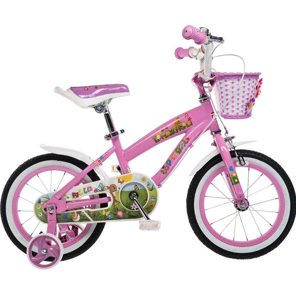 自転車子供の自転車2-10歳12141618インチ自転車の赤ちゃんキャリッジ (色 : ピンク ぴんく, サイズ さいず : 18 inches) B07D7T2V4G 18 inches|ピンク ぴんく ピンク ぴんく 18 inches
