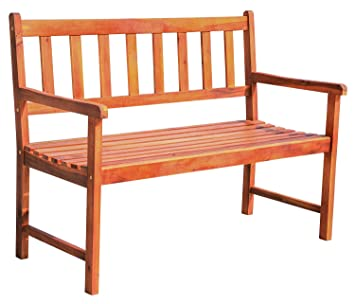 Pleasing Leisure Zone 2 Seater Hardwood Garden Patio Bench Wooden Caraccident5 Cool Chair Designs And Ideas Caraccident5Info