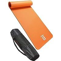 LICLI ヨガマット おりたたみ トレーニングマット エクササイズマット ヨガ ピラティス マット 厚さ 10mm 「 ストラップ 収納ケース付 」「 ニトリルゴム 滑り止め マットバッグ 」 11カラー