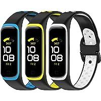 SenMore 3-pak pasków kompatybilnych z Samsung Galaxy Fit2, sportowy oddychający silikonowy pasek, akcesoria fitness…