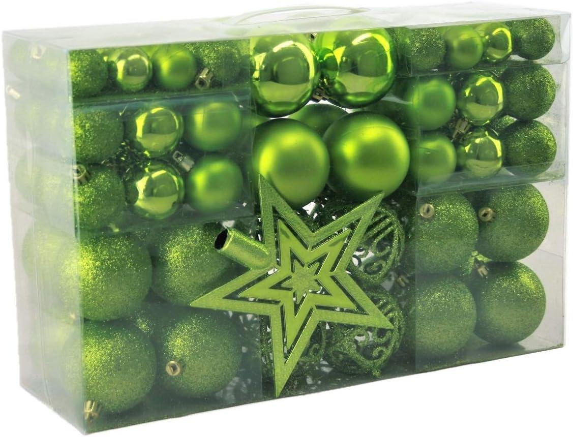 regalo estadl 100Estrella bolas y árbol de Navidad, verde, Ø 3 cm, Ø 6 cm, Ø 4 cm