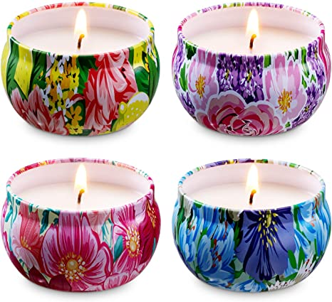 Birthday gift 100/% soy wax Set of 5 candles Vegan candle Tin Candle. Set of lavender candles Natural candles