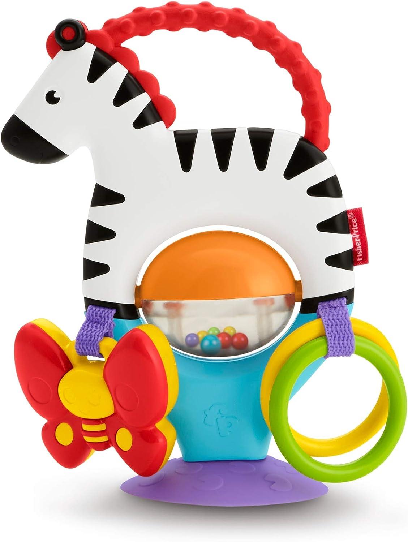 Fisher-Price- Zebra attività-Giocattolo Neonato, Multicolore, FGJ11