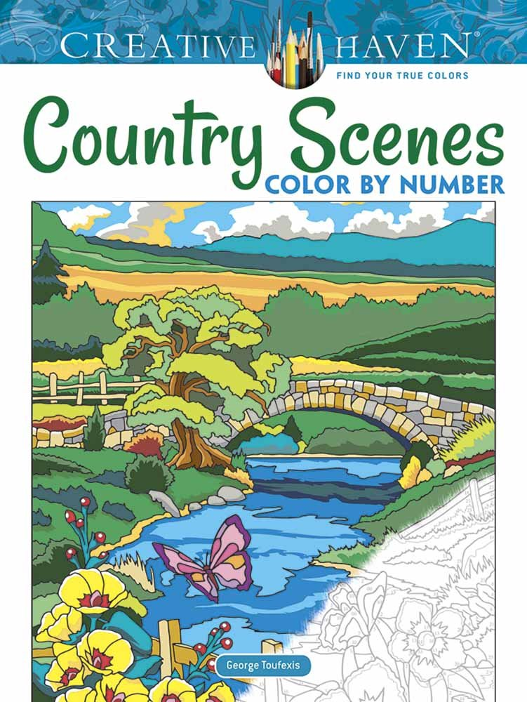 Creative Haven Country Scenes Color by Number Coloring Book (Adult Coloring)