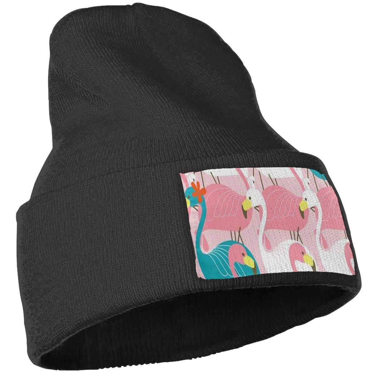 Spinel Red Flamingo Unisex Winter Knitting Woolen Hat Warm Cap