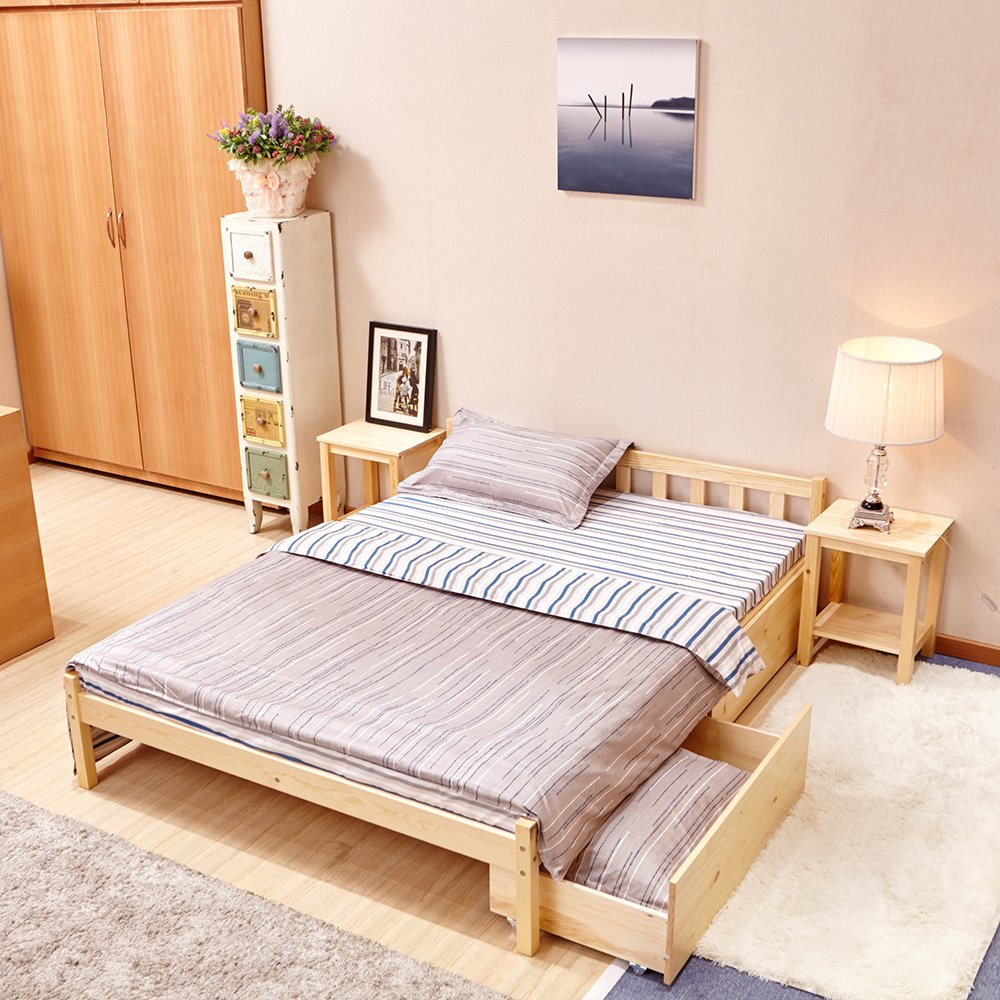 Single Bed Double Bed Day Bed Wooden Bed Frame Sofa Bed