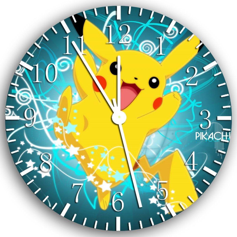 Horloge murale en forme de Pikachu 10 sera Cadeau D/écoration mural Z66 et