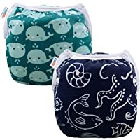 ALVABABY Swim Nappies Diapers Boys Reuseable Adjustable One Size 2pcs Baby Gifts SW18-21-AU