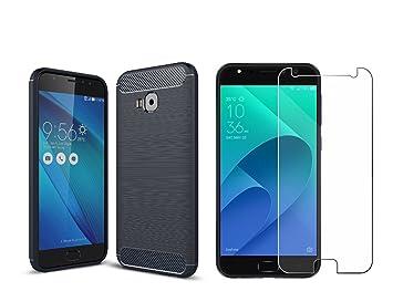 2105f99800fd BestTalk Zenfone 4 Selfie Accessory ComboBlueClear  Amazon.in  Electronics