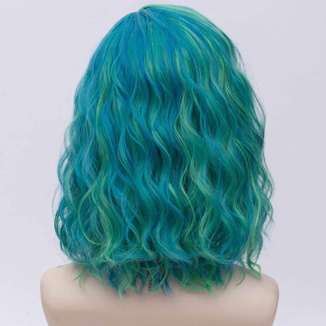 Wig Cap Probeauty Sweety Rainbow Collection Lolita 40CM Short Curly Women Lolita Anime Cosplay Wig