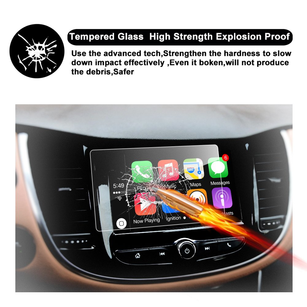 RUIYA TEMPERED GLASS Protector Compatible for 2017 2018 Trax MyLink 7-Inch In-Dash HD Clear Car Navigation Screen Protective Film