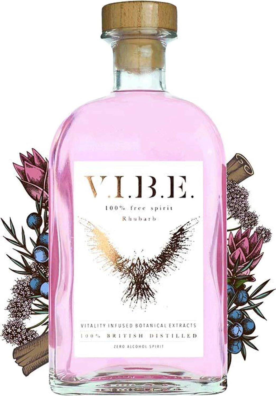 VIBE – Vibe, RHUBARB Espíritu Libre de ALCOHOL, 70CL – Alternativa de ginebra sin alcohol