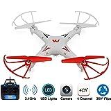 KELIWOW 2.4G RC Quadcopter Drohne mit Kamera 4CH 6-Achsen Gyro Explorers RTF (weiß-rot) (white)