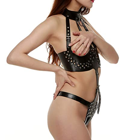 CQMC Bondage erótico, señoras arnés de Cuero del Cuerpo de ...