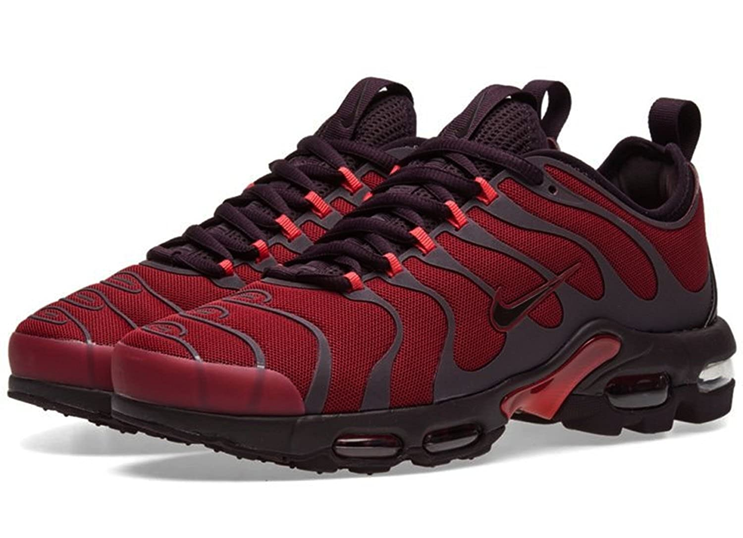 more photos aaa6b b5684 Nike Air Max Plus TN Ultra Lifestyle Casual Sneakers Noble red Port Wine  New 898015-601 - 14  Amazon.co.uk  Shoes   Bags