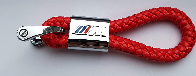 M ELPCraft Porte-cl/és en Cuir tress/é pour BMW M Power Performance Black