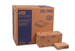 Tork D806E Advanced Soft Masterfold Dispenser Napkin, 1-Ply, 17.0