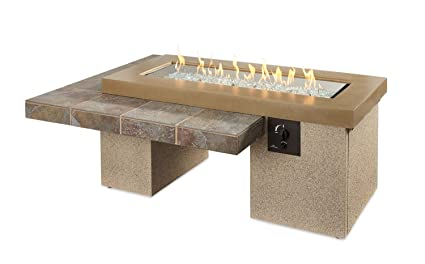 Amazon Com Outdoor Great Room Uptown Crystal Fire Pit Table With