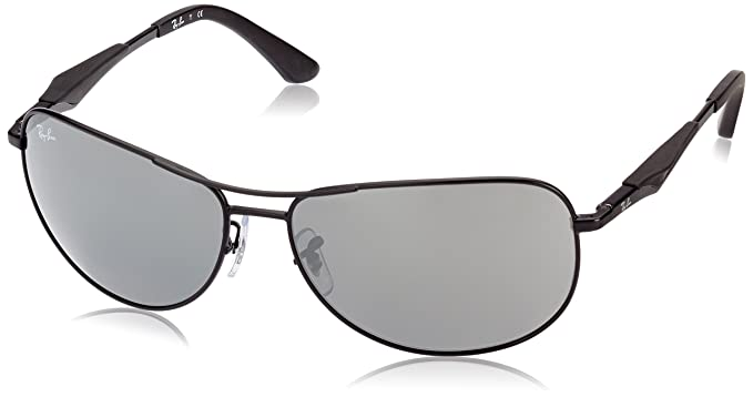 ray ban matte black aviator  Amazon.com: Ray-Ban STEEL MAN SUNGLASS - MATTE BLACK Frame GRAY ...