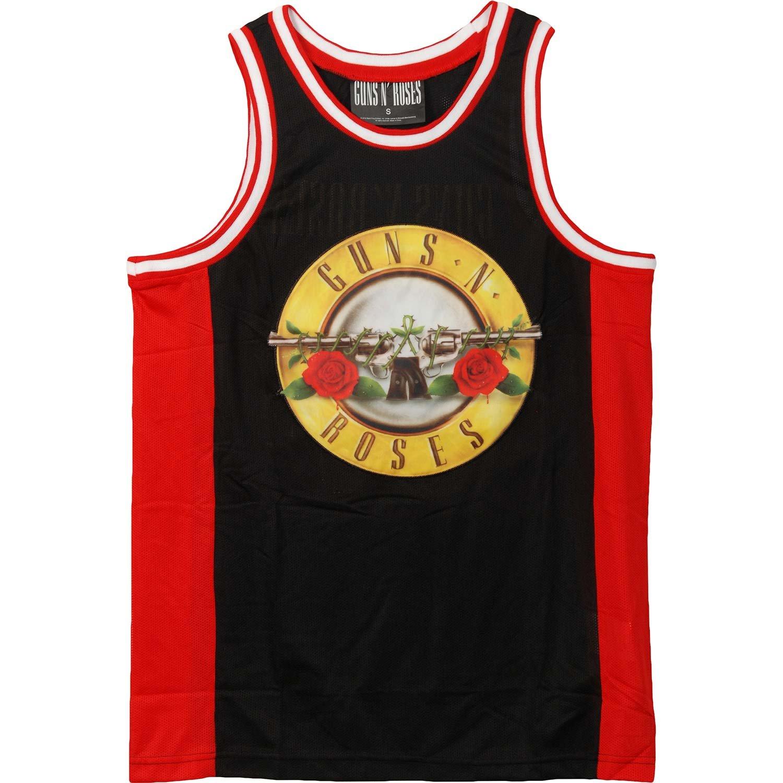 Guns N Rosesのバスケットボールジャージーブラック B01N3LRC3K  L
