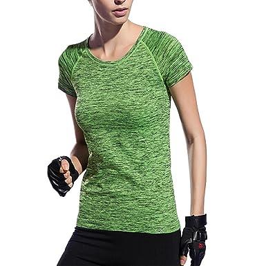 Amazon.com: AiTrip Activewear - Camiseta de manga para mujer ...