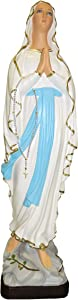 Ferrari & Arrighetti Our Lady of Lourdes Garden Statue Made of Unbreakable Material, Rain-Resistant, Hand-Painted (24