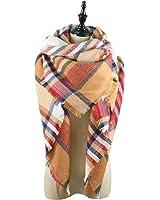 Stylish Womens Cozy Warm Fall Winter Plaid Tassel Scarf Soft Tartan Blanket Scarves Shawl Wrap