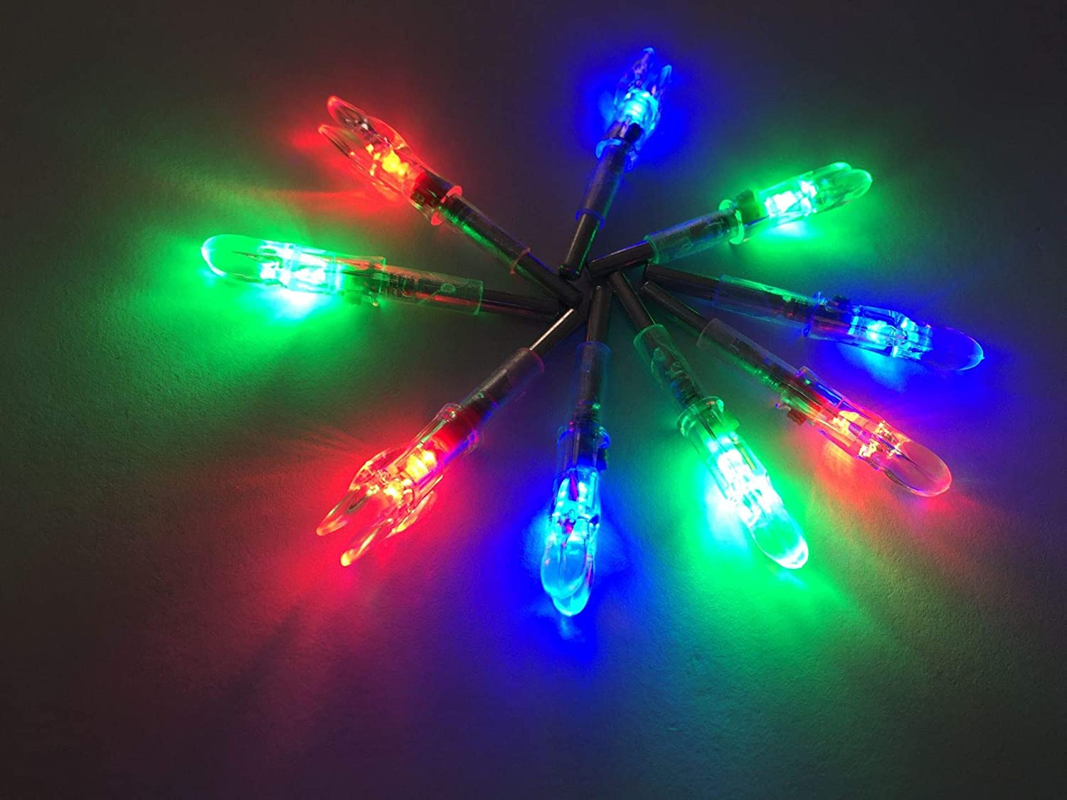 jiexi fashion Led Lighted Arrow Nocks for ID 4.2mm Compound Bow Arrow Shafts Pack of 3
