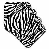 3dRose Patricia Sanders Black and White Zebra Print