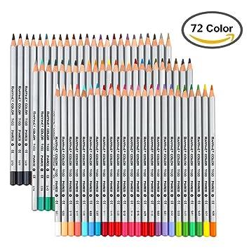 IZiv 72 Couleurs Crayons De Couleur Marco Raffine DArtiste Dessin Adulte Secret Garden