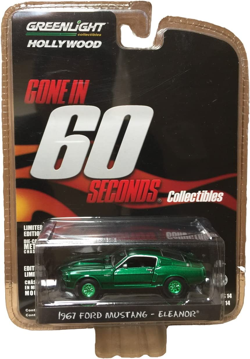 Remote Control Ford Mustang Bandit BLACK W GREEN Stripes FREE SHIPPING