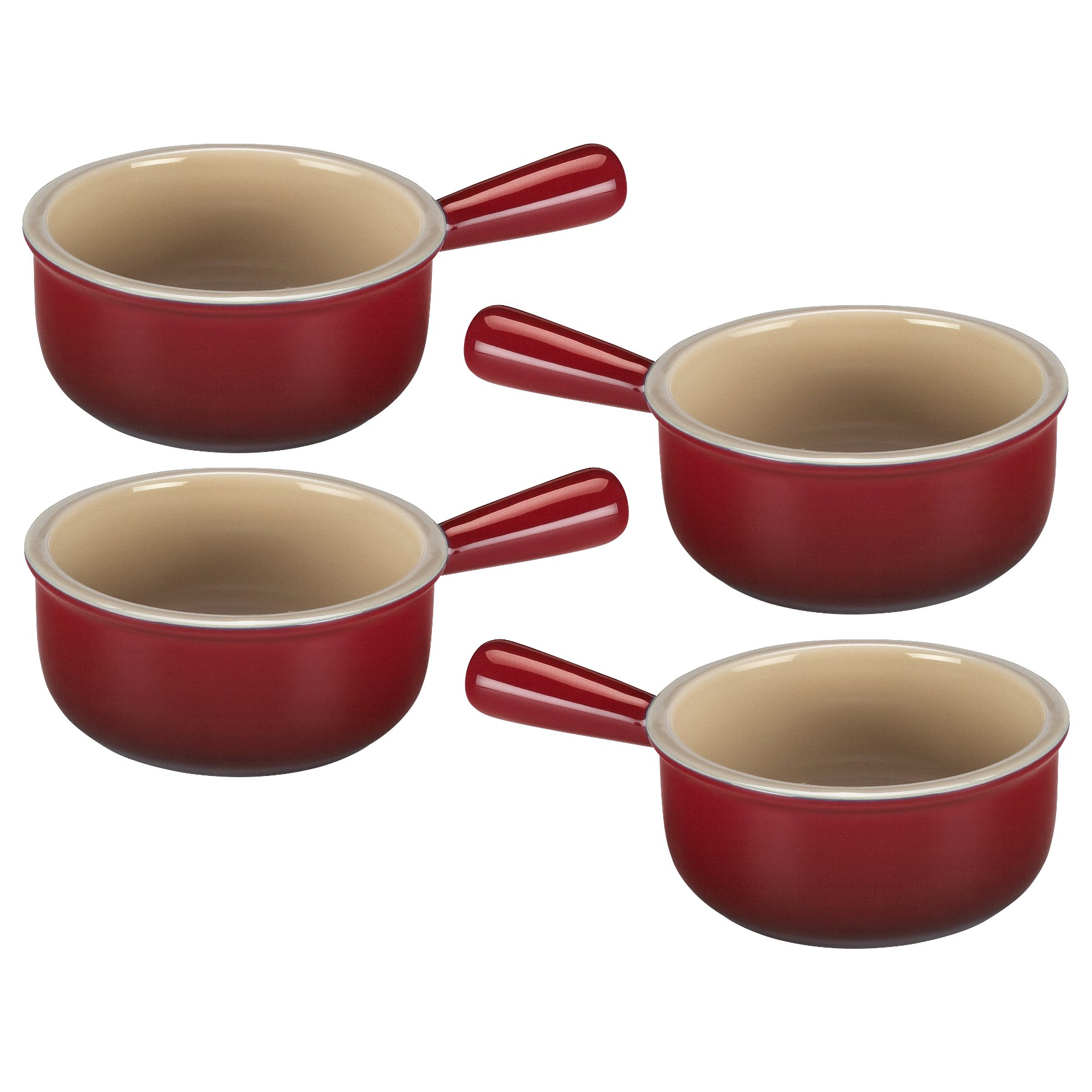 Le Creuset Cherry Stoneware French Onion Soup Bowl, Set of 4 by Le Creuset (Image #1)