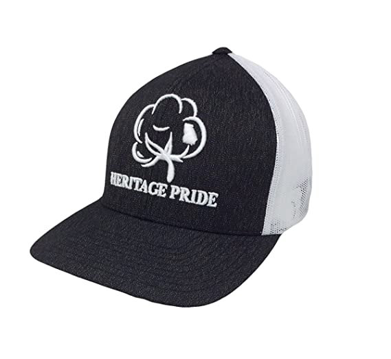 968c8d4392f Heritage Pride Logo Georgia State Cotton Boll Trucker Hat-Black Heather