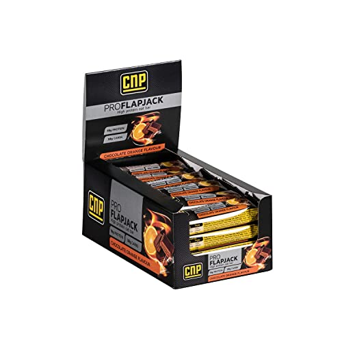 CNP Pro Flapjack - Chocolate Orange High Protein Flapjack Bars – 24 x 75g Protein Oat Bars