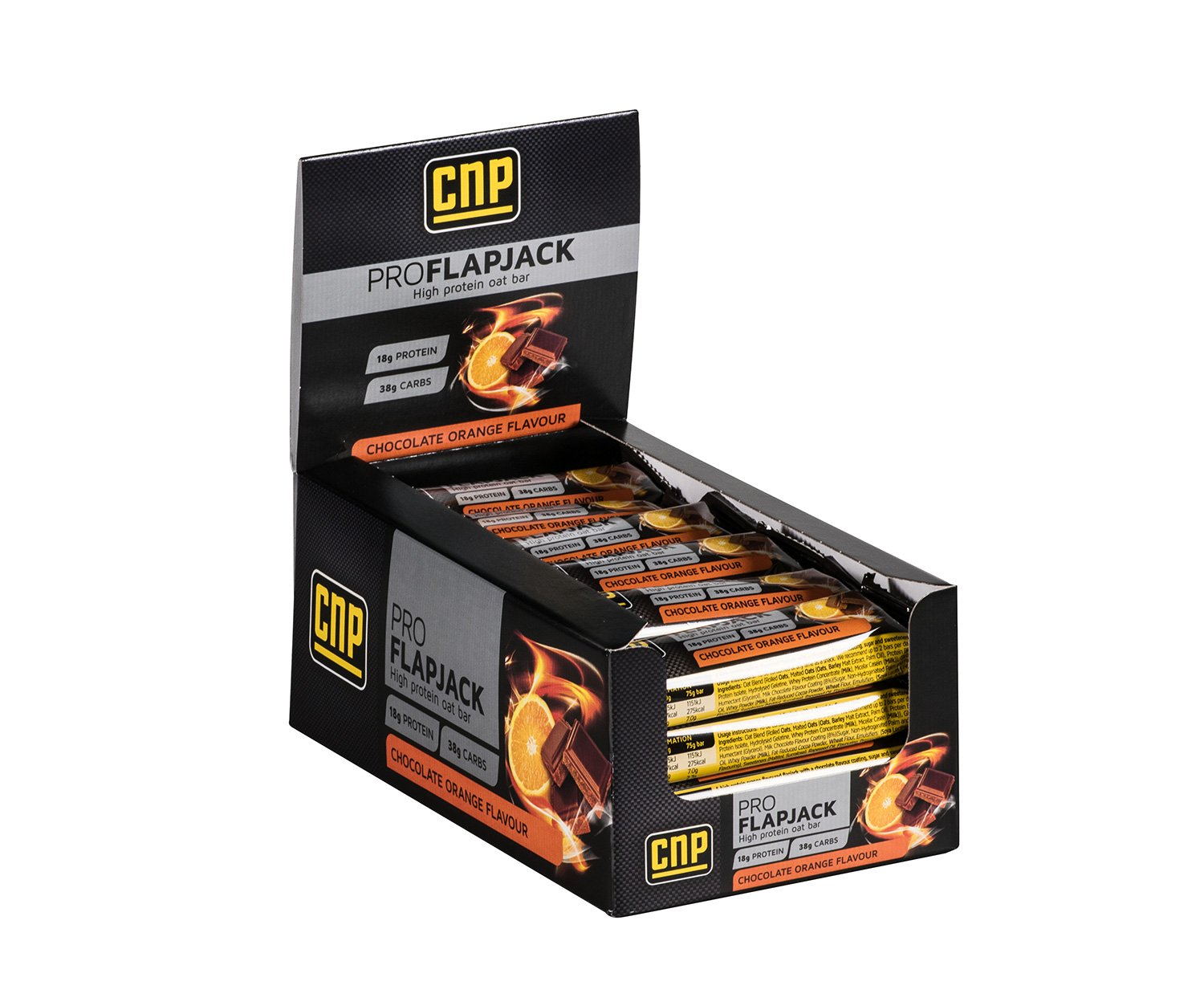 CNP Pro Flapjack - Chocolate Orange High Protein Flapjack Bars – 24 x 75g Protein Oat Bars product image