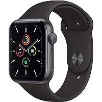 Apple Nuevo Watch SE GPS • Caja de Aluminio Gris Espacial de 44 mm • Correa Deportiva Negra - Estándar