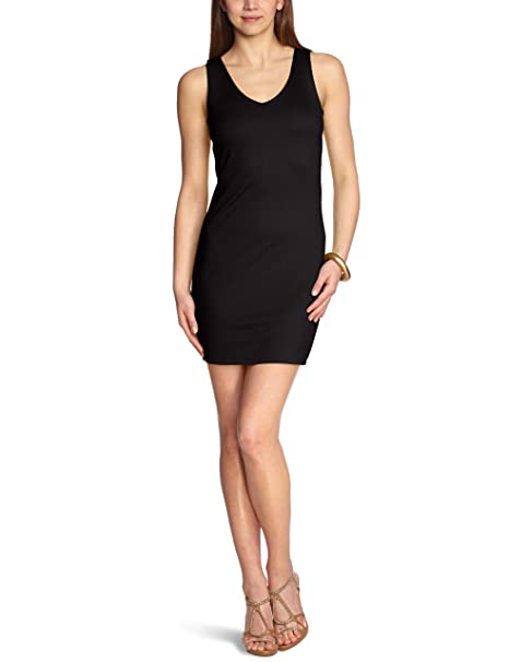 Vero Moda Vestido mini sin mangas para mujer, talla 38, color negro