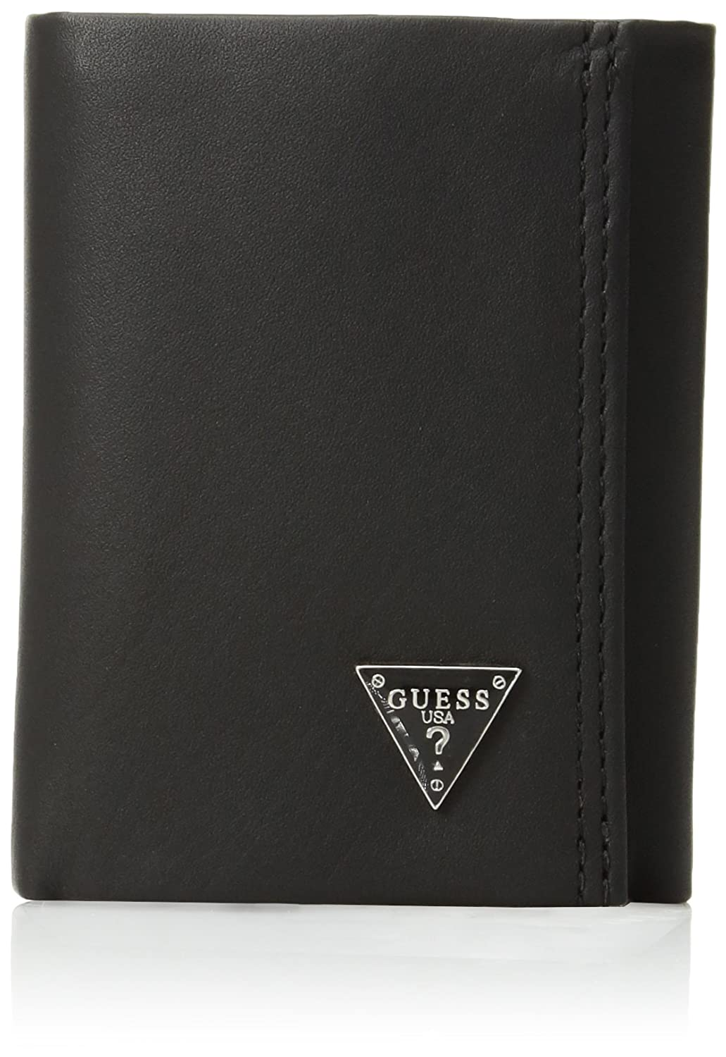 846429673 Guess Men's Leather Trifold Wallet, Black Plaque at Amazon Men's Clothing  store: Wallets