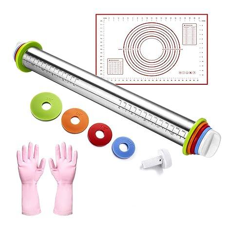 Amazon.com: Rolling Pin, Alfombrilla de silicona para ...
