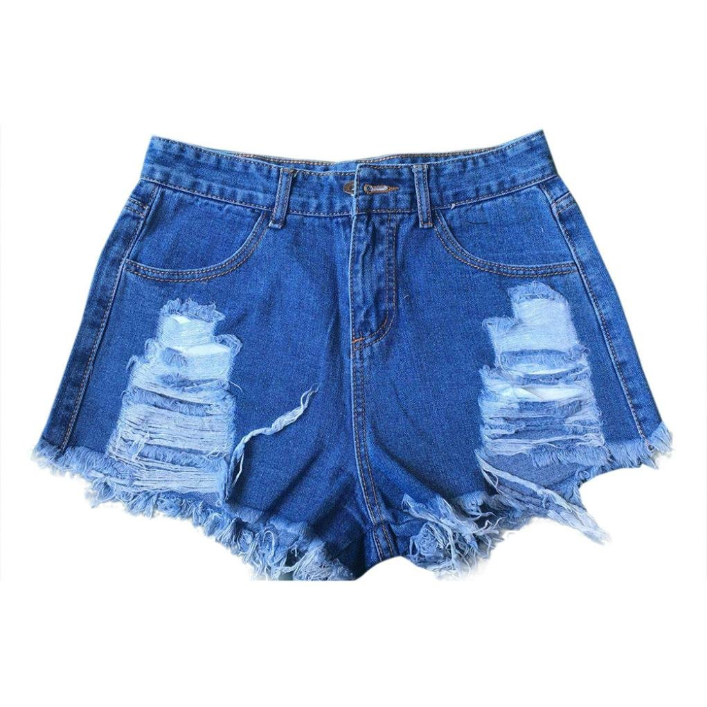 TraumZimmer Frauen Sommer High Waisted Denim Shorts Ripped Holes Jeans Hot  Pants: Amazon.de: Bekleidung