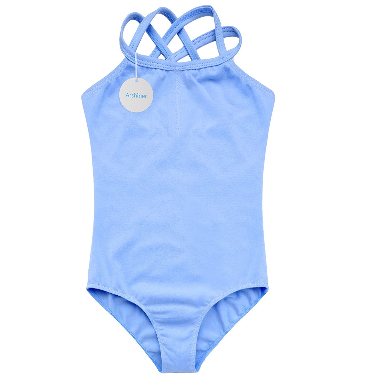 30157e690 Arshiner Kids Girl s Double Strap Slim Solid Camisole Leotard ...