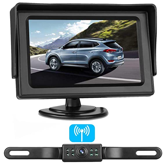 zsmj wireless backup camera and 4 3\u0027\u0027 monitor kit, hd color, suitable for cars,suvs,minivans,trucks ip68 waterproof rear front view camera with super Garmin Gpsmap Wiring Diagram