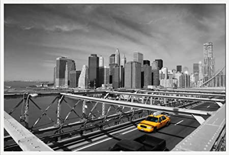 Poster New York Taxi.Empire Interactive Poster New York Taxi On Bridge With Free