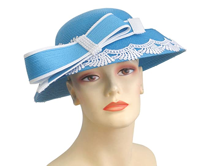 1930s Style Hats | Buy 30s Ladies Hats Womens Straw Church Derby Tea Party Dress Hats by Ms Divine #HM20 $40.00 AT vintagedancer.com