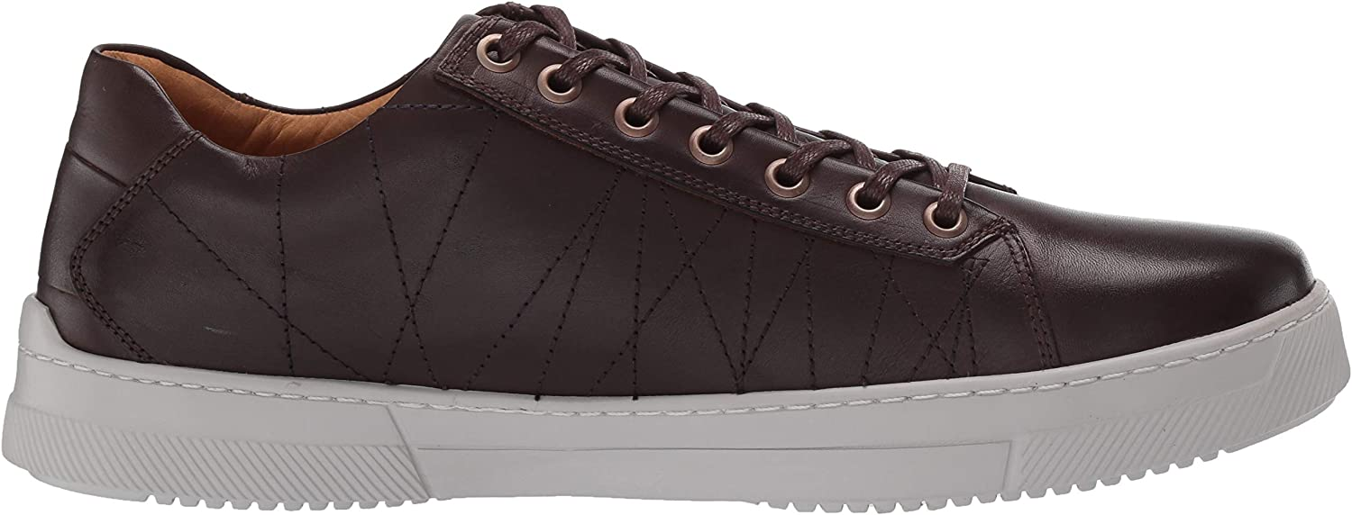 MARC JOSEPH NEW YORK Men's Leather Luxury Laceup Lightweight Technology Sneaker Cafe Nappa/White Sole