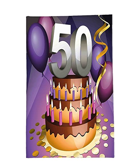 Amazoncom Interestlee Fleece Throw Blanket 50th Birthday
