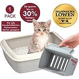 KeDDii Scoop XL Katzenstreuschaufel | Reinigung der Katzentoilette | Siebgröße Manuell Einstellbar | Multifunktionale Streuschaufel Für Katzenklo | Bis Zu 10x Mehr Volumen Als Herkömmliche Kotschaufel
