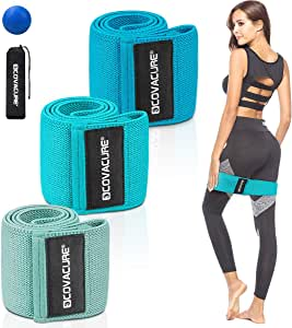 Covacure Resistance Bands for Women Butt and Legs - Resistance Bands Set Workout Bands Resistance for Women, Exercise Bands Booty Loops Bands Stretch Resistance Band Anti Slip Elastic (3 Pack)